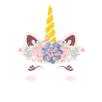 Leuke bloemeneenhoorn