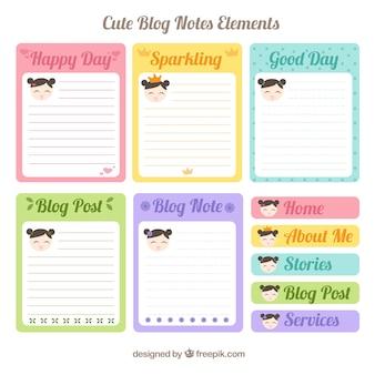 Leuke blog note elementen