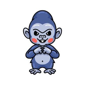 Leuke boze babygorilla-cartoon
