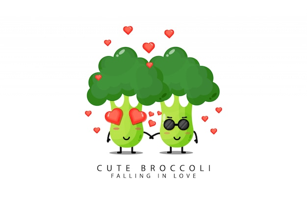 Leuke broccoligroenten worden verliefd