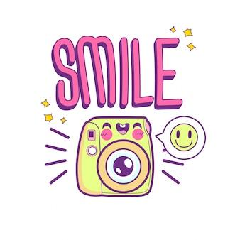 Leuke camera sticker emoticon