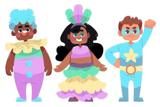 Leuke cartoon carnaval kinderkostuums