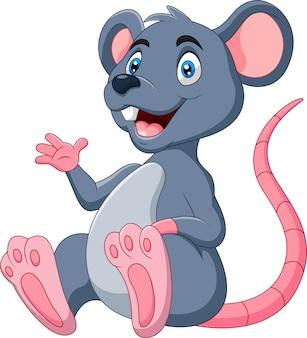 Leuke cartoon gelukkig muis illustratie