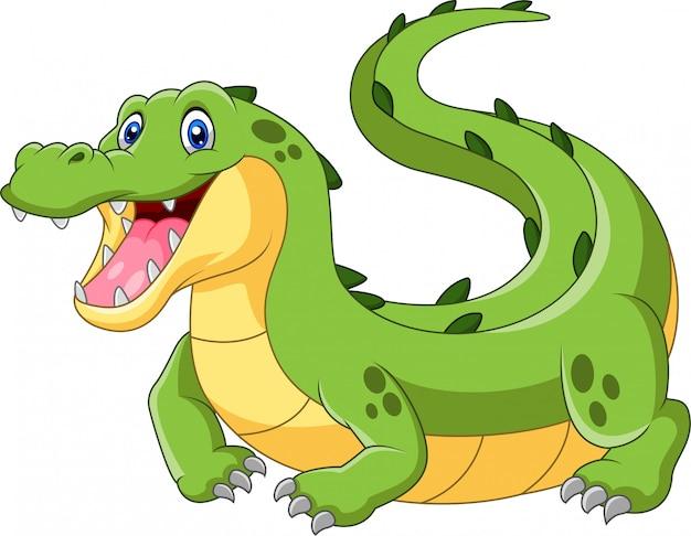 Leuke cartoon krokodil illustratie