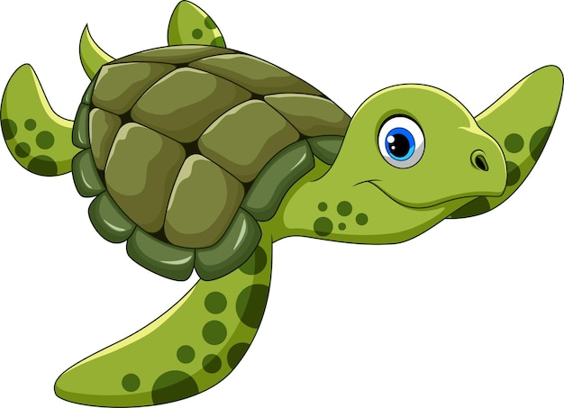 Leuke cartoon schildpad