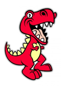 Leuke cartoon t -t-rex dinosaurus
