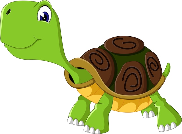 Leuke cartoonschildpad