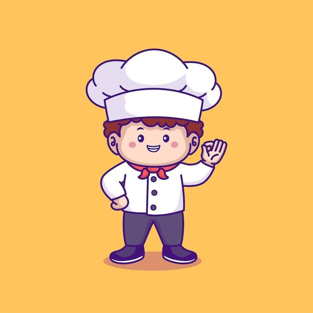 Leuke chef-kok cartoon