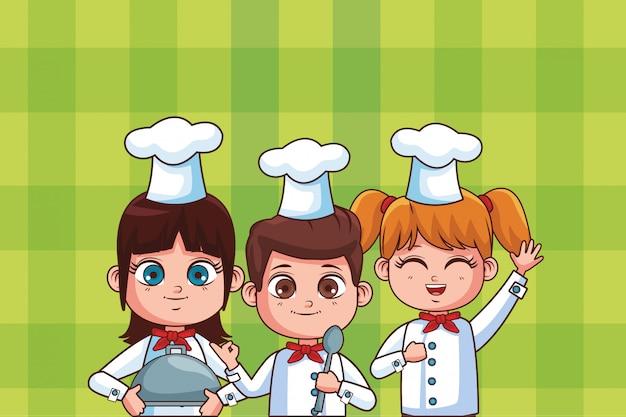 Leuke chef-kok kinderen cartoon