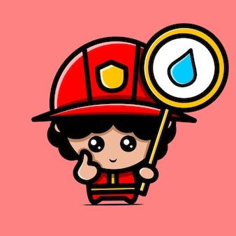Leuke chibi-ontwerpen voor brandweermannen