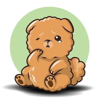 Leuke chowchow dog cartoon-vector.