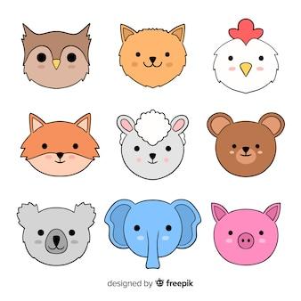 Leuke collectie huisdieren en wilde dieren
