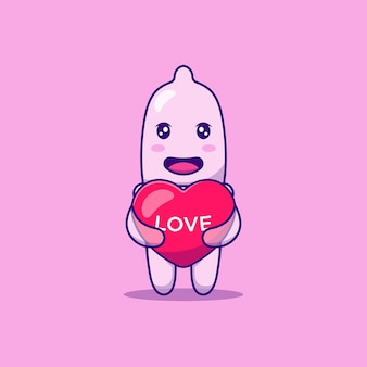Leuke condoom knuffel liefde ballon