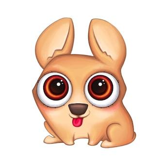 Leuke corgi-hond