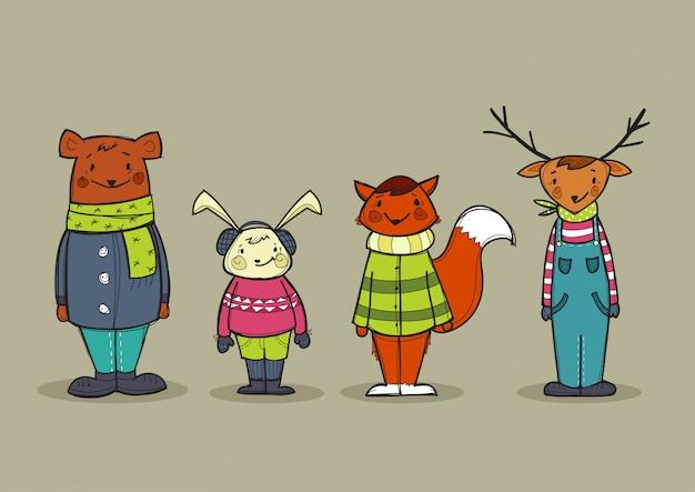Leuke dieren in kleding