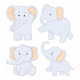 Leuke dierlijke olifanten expressie