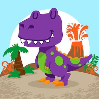 Leuke dinosaurussen vector set