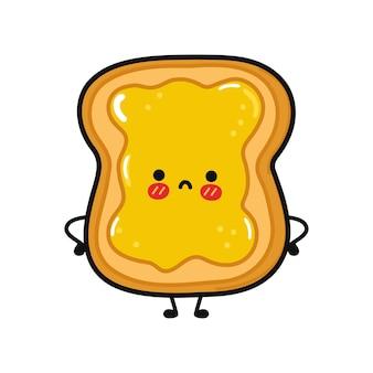 Leuke droevige toast met honingkarakter