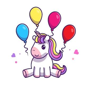 Leuke eenhoorn eet lolly pictogram illustratie. unicorn mascotte stripfiguur. animal icon concept wit geïsoleerd