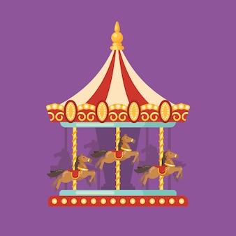 Leuke eerlijke carnaval vlakke afbeelding