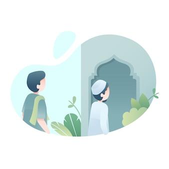 Leuke eid al adha-illustratie