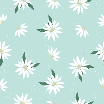 Leuke elegante vintage bloemen naadloze patroon achtergrond