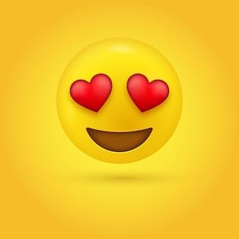 Leuke emoji liefdevolle ogen