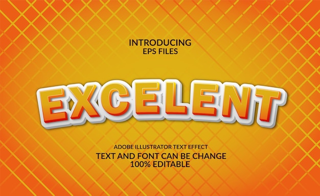 Leuke en cartoon 3d reliëf gele tekst. bewerkbaar lettertype en tekststijleffect.