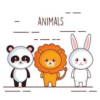 Leuke en kleine dierenkarakters