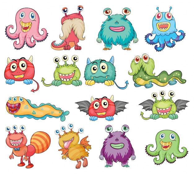 Leuke en kleurrijke monsters