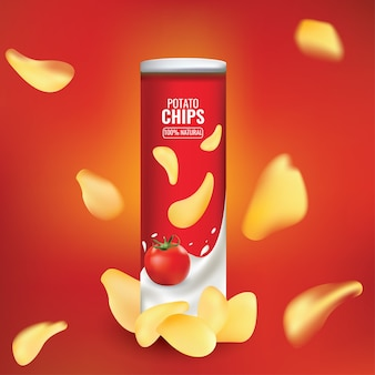 Leuke en mooie samenvatting of poster voor chips packing