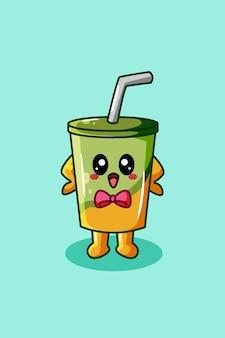 Leuke fles drank cartoon afbeelding