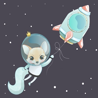 Leuke fox-astronaut