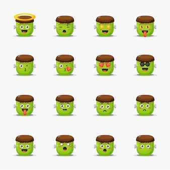 Leuke frankenstein met geplaatste emoticons