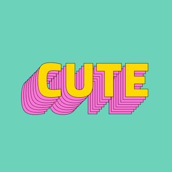 Leuke gelaagde lettertype typografie vector