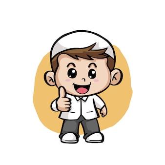 Leuke gelukkige mohammedaanse kinderen cartoon