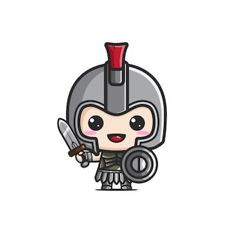 Leuke gladiator mascotte
