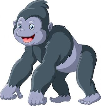 Leuke gorilla cartoon afbeelding