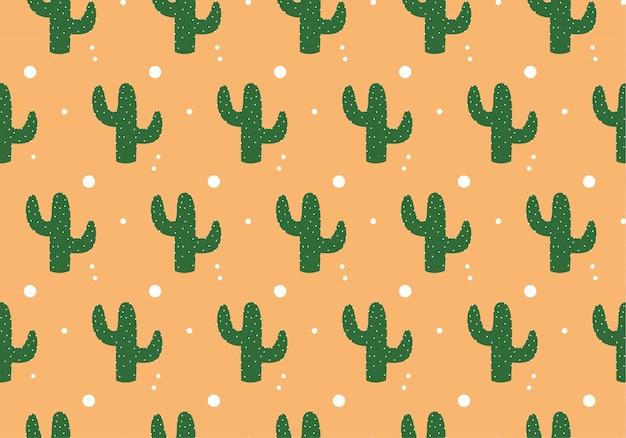 Leuke grappige cactus print voor textuur en textiel