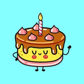 Leuke grappige cake zwaaiende hand karakter