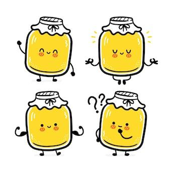 Leuke grappige kombucha-tekensetcollectie.