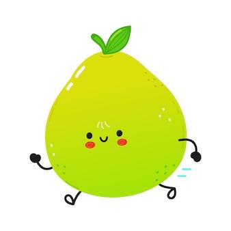 Leuke grappige lopende pomelo