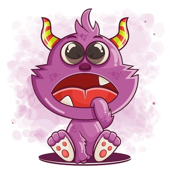 Leuke grappige monster cartoon