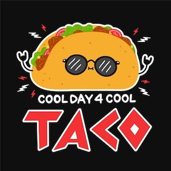 Leuke grappige taco in zonnebril