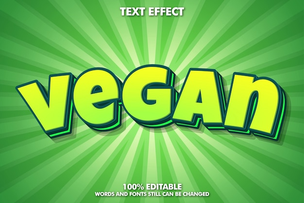 Leuke groene cartoon tekst effect