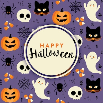 Leuke halloween-achtergrond