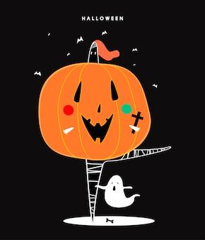 Leuke halloween dag concept illustratie