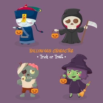 Leuke halloween-karaktersinzameling