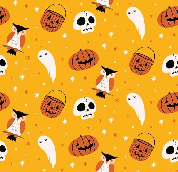 Leuke halloween naadloze achtergrond