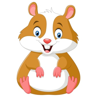 Leuke hamster cartoon